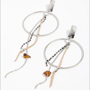 NEW Free People Tangier Hoop Earrings